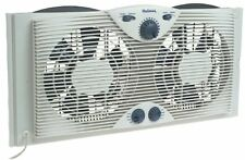 Holmes Twin Window Fan with Comfort Control Thermostat, New, Free Shipping