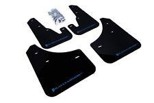 Rally Armor Mud Flaps Guards for 04-09 Mazda3 Mazdaspeed 3 (Black w/Blue Logo)