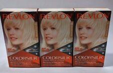 Lot of 3 -#03 Revlon ColorSilk Hair Color w/ Keratin Ultra Light Sun Blonde 3D