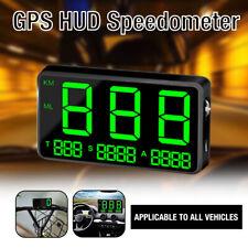 Universal HUD Head UP GPS Speedometer Digital Display Truck Car Speed Warning