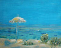 Contemporary oil painting seascape beach signed