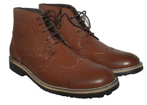 MENS CASUAL / DRESS / FORMAL LACE UP ANKLE BOOT BROWN SIZES 6, 7, 8, 11