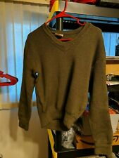 Vtg Gilles Patron 1984/104 Military Army Green Wool Blend sweater