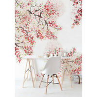 Spring Cherry Blossom Removable Wallpaper Floral Peel and Stick Flowers Adhesive