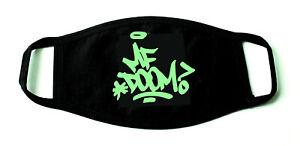 MF Doom Hip Hop Printed Re-Usable Cotton Face Mask Black
