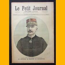 LE PETIT JOURNAL illustré GÉNÉRAL LE MOUTON DE BOISDEFFRE 14 oct 1893