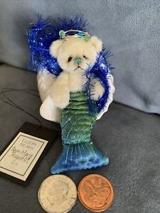 Aqua Marie - Handmade Artist Bear by Ingrid Gilbert From New Zealand 4In 1 Of 1.