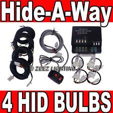 120W 4 HID Bulb Hide-A-Way Emergency Hazard Warning Flash Strobe Light System#13