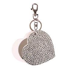 Clearance Women Luxury Cute Retro Heart Slide Mirror Key Chain Gift For Her