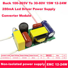 Buck 30-80V 15W 18W 12-24W 280mA Led Driver Constant Current Power Supply Module
