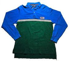 Ralph Lauren Polo Sport Men's Large Long Sleeve Rugby Blue Green Vintage Cotton