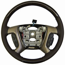 2013-16 Enclave Acadia Steering Wheel Cocoa Leather W/Wood Complete New 22833218