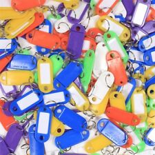 1000x KEY RING TAGS Mixed Colours BULK Luggage Travel Name Tab Label Fob Plastic