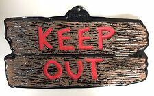 2xHalloween Party Feier Deko Wanddeko Schild Keep Out