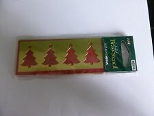 BRASS STENCIL 4  CHRISTMAS TREES IDEAL FOR CARD MAKING