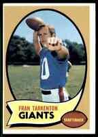 1970 Topps #80 Fran Tarkenton HOF New York Giants / Vikings / Georgia Bulldogs
