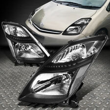 FOR 2006-2009 TOYOTA PRIUS PAIR BLACK HOUSING CLEAR CORNER HEADLIGHT/LAMP SET