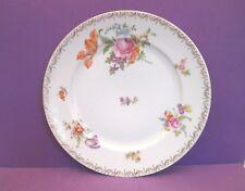 """Rosenthal White & Floral """" Dresden Flowers"""" 10 1/2"""" Dinner Plate,"""