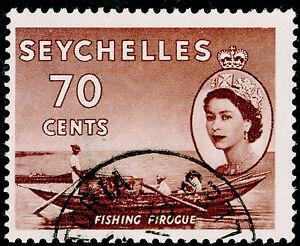 SEYCHELLES SG183a, 70c purple-brown, FINE USED, CDS.