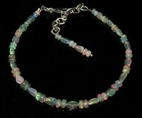 100% Natural Ethiopian Welo Fire Opal  Tumble & Roundel Beads strand Bracelet. 3