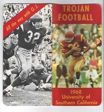 1968--USC TROJANS (DEFENDING NATL. CHAMPS--O.J.)--FOOTBALL MEDIA GUIDE-NMT