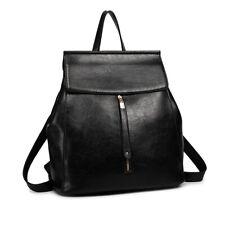 Faux Leather Ladies Large Travel School Backpack College Oil Wax Women Handbag