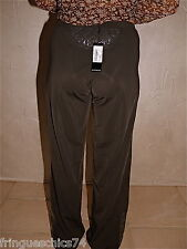 excepcional pantalones elástica vinilo ceniza MC PLANET talla 38 ETIQUETA