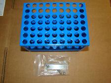 New Metal 63 units Test Tube Rack, Blue  Diameter 1 inch holes