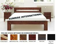 Modern Design Wooden Queen Size Double Bed with 2 matching bed side cabinet !