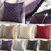 "18"" Home Sofa Cotton Decor Plaids Throw Pillow Case Square Waist Cushion Cover"