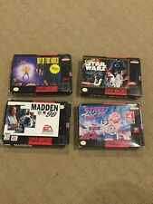 4 Boxed SNES Super Nintendo Games Star Wars Out Of This World