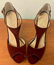 Colin Stuart Red/Oxblood Platform High Heel Shoe Size 10