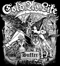 """Cold As Life - Suffer / For The Few 7"""" WHITE VINYL BLOOD FOR BLOOD DEATH THREAT"""