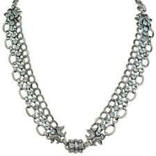 KIRKS FOLLY EMPRESS CHAIN MAGNETIC INTERCHANGEABLE NECKLACE silvertone