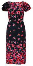 Monsoon Black Floral Dress - Size 12