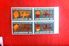 Ascension MINT UNHINGED BLK  OF 4 1966 BBC RELAY STATION 3D