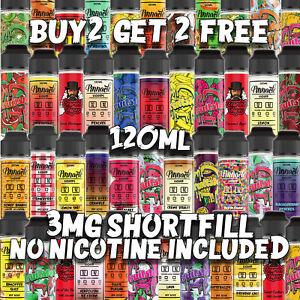 E liquid / Vape Juice ShortFill For 3MG / No Nicotine included 120ml 70 VG 30 PG