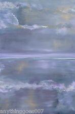 LARGE ROMANTIC PAINTING ORIGINAL ART romantics romance purple modern lavender