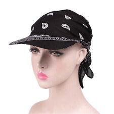 New Woman Wide Brim Sun Hat Scarf Cap Chemo Hijab Turban Head Wrap Scarf Cover