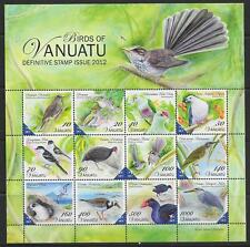VANUATU SGMS1130 2012 BIRDS DEFINITIVES M/S MNH