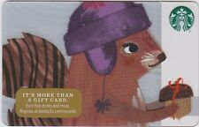Starbucks Coffee Cute Squirrel in a Hat with Acorn Winter Holiday 2016 Gift Card