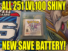 POKEMON CRYSTAL All 251 SHINY GAME UNLOCKED AUTHENTIC & NEW BATTERY!