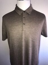 1c29c4c3 Boss Hugo Boss Jersey Dark Beige Slim Fit Wool Tailored Polo Shirt 2xl