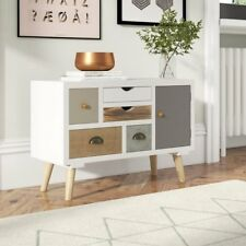 Retro Sideboard Cabinet Furniture Vintage 5 Drawers Chest Wooden TV Stand Unit