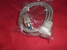 1 Metro De 9 Pines Null Modem Cable Lead Plug Db9 Rs232 Serial Comm Nuevo
