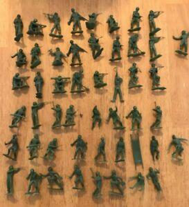 Marx Vintage 54mm WWII US GI's Series 1 & Series II 50 random figures