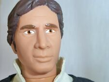 """Vintage STAR WARS Han Solo 12"""" Doll Action Fig 1992 Hasbro With Gun Belt MINT!"""