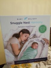Baby Delight Snuggle Nest Harmony Infant Sleeper   Silver Clouds, Soothing Sound