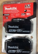Makita bl1850-2 Pack of Batteries 18v LXT Lithium-Ion 5.0 ah  Bat Gauge NEW