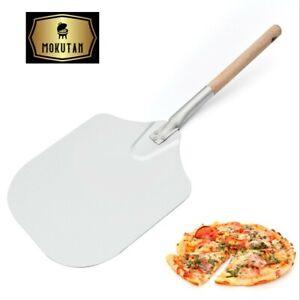 """66x30.5CM(26"""") Aluminium Pizza Peel Wooden Handle Bakers Paddle Shovel Kamado"""